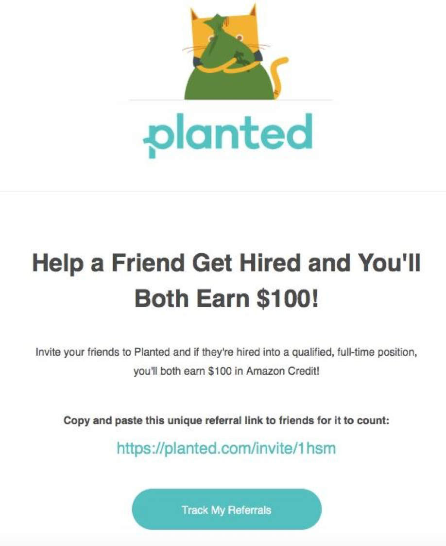 Planted referral email